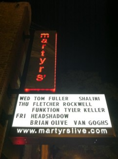 FR Martyrs marquee
