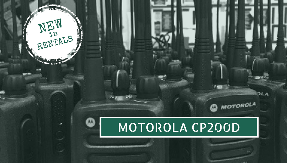 New in Rentals: Motorola CP200D Portable Radios — TC Furlong